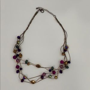 Jewelry - Chic Purple & Gold Necklace